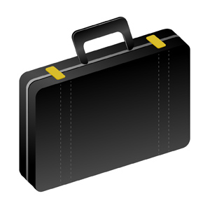 Briefcase - Vector illustration on a black briefcase. - black, briefcase, professional, clipart, business, money, businessman, company, work, politics, memo, note, bulletin