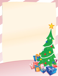 Christmas Announcement - Vector illustration of an announcement, or