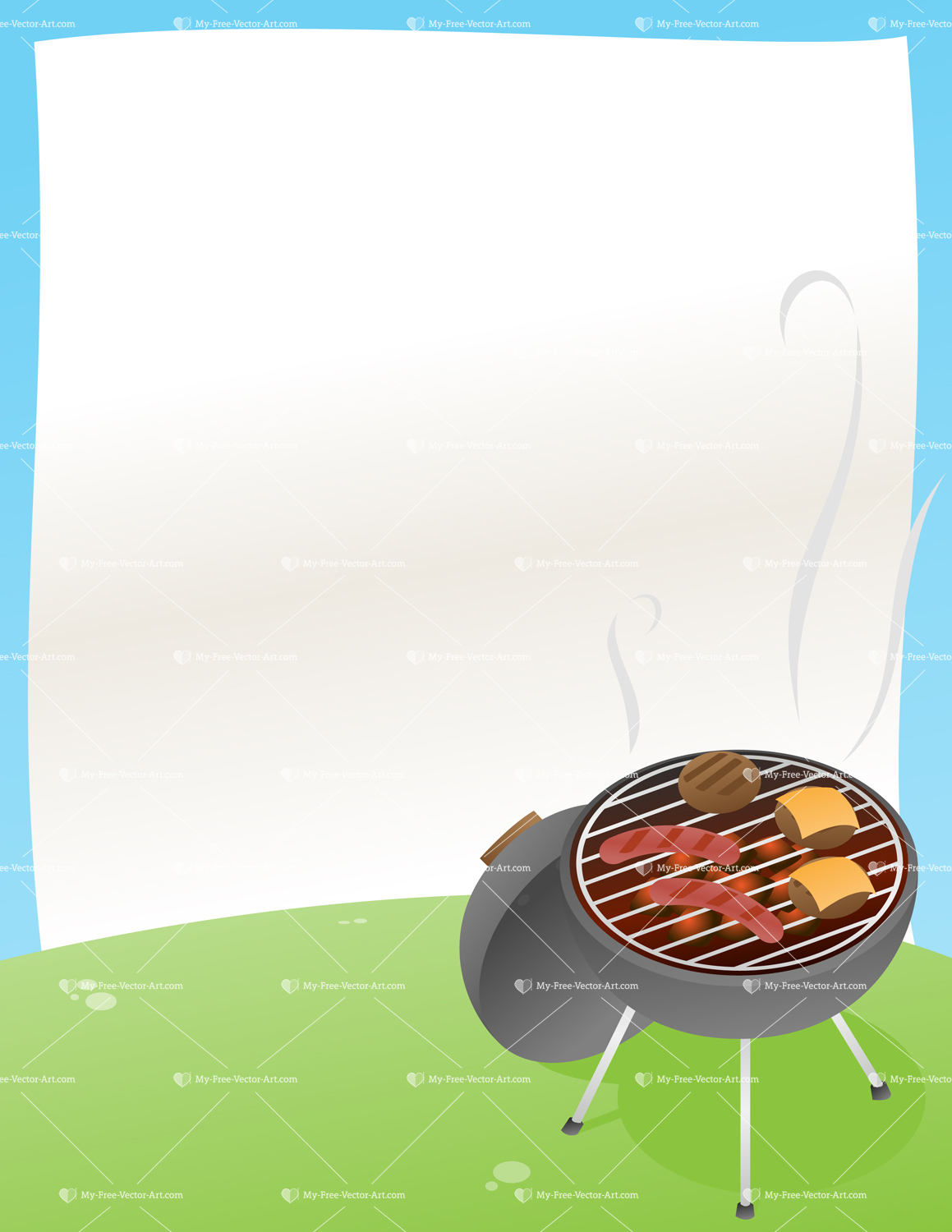 bbq announcement vector illustration of a bbq grill with a