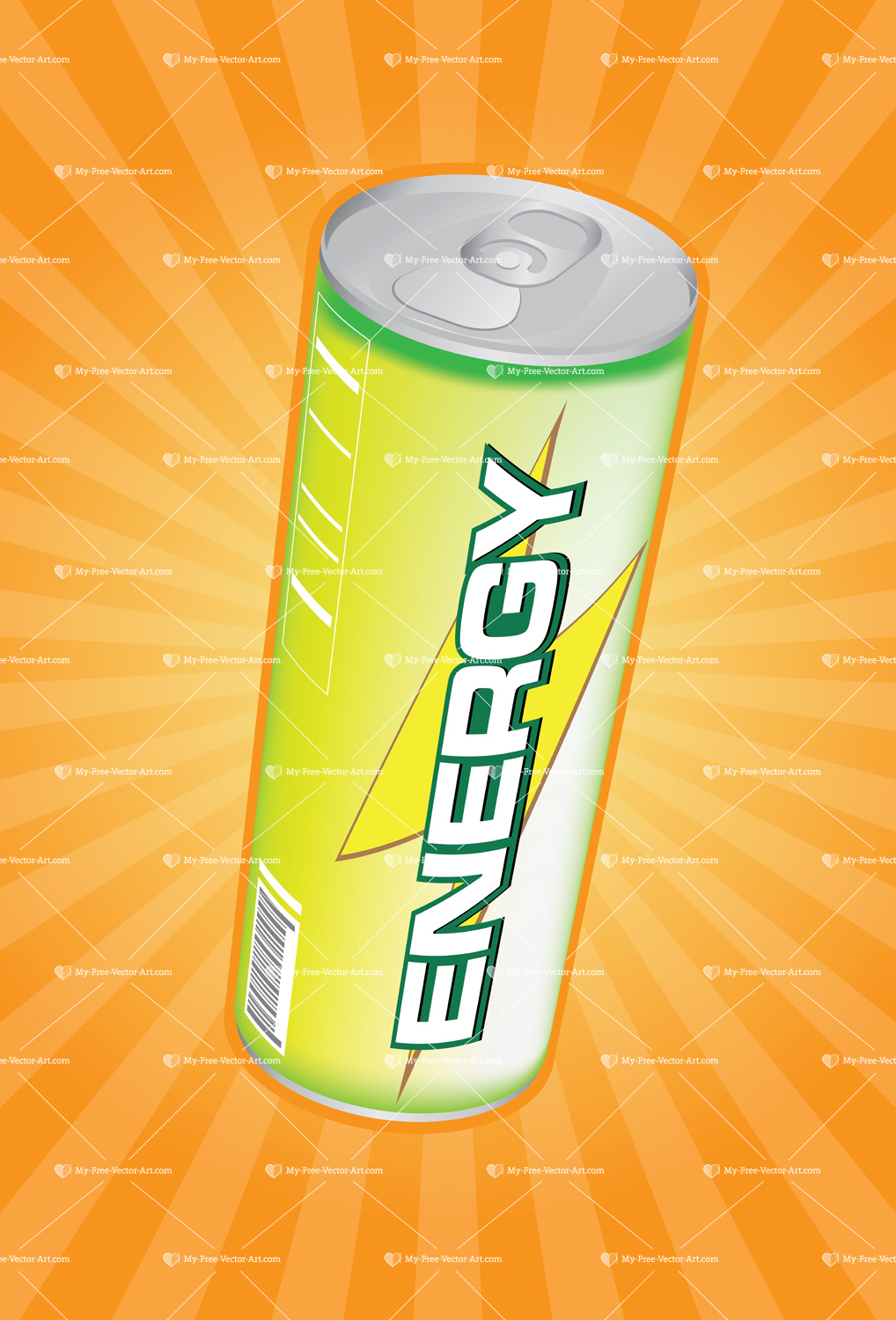 Green Can Energy Drink Energy Drink Vector